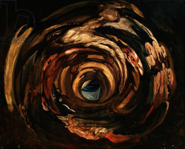 Anamorphosis of Rubens (oil on canvas)