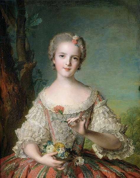 Portrait of Madame Louise de France (1737-87) at Fontevrault, 1748 (oil on canvas)
