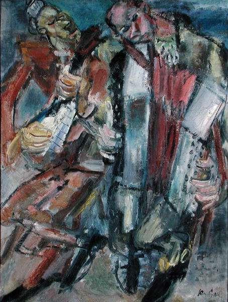 Musicians, c.1929 (oil on canvas)