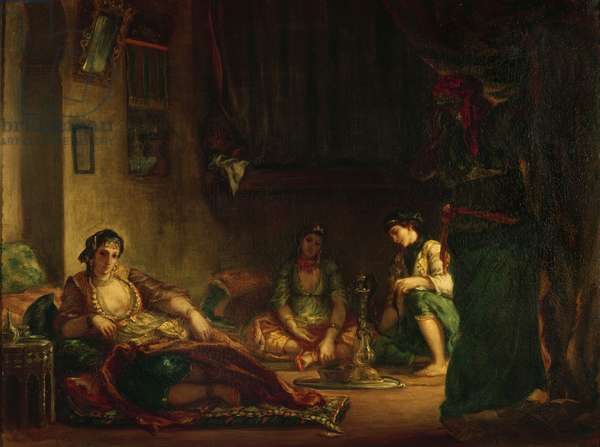 The Women of Algiers in their Harem, 1847-49 (oil on canvas)