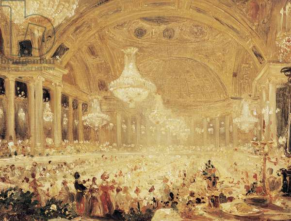 Dinner at the Tuileries (oil on canvas)