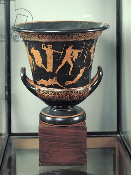 Attic red-figure calyx-krater depicting the death of the Niobids, c.460-50 BC (pottery) (see also 92576-77)