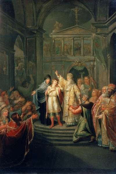 The Election of the Tsar Michael Romanov (1596-1676) on March 14th 1613, 1798-1800 (oil on canvas)