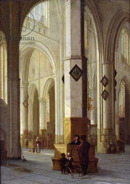 Interior of the Church of St. Bavo, Haarlem, c.1611-12 (oil on panel)