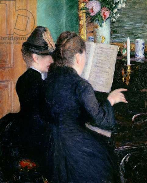The Piano Lesson, 1881 (oil on canvas)