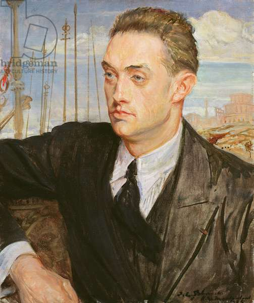 Portrait of Henry de Montherlant (1895-1972) 1923 (oil on canvas)