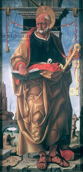 St. Peter (oil on panel)