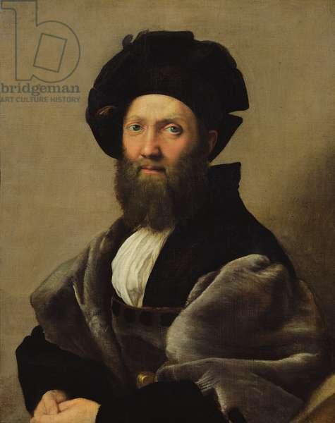 Portrait of Baldassare Castiglione (1478-1529) before 1516 (oil on canvas)