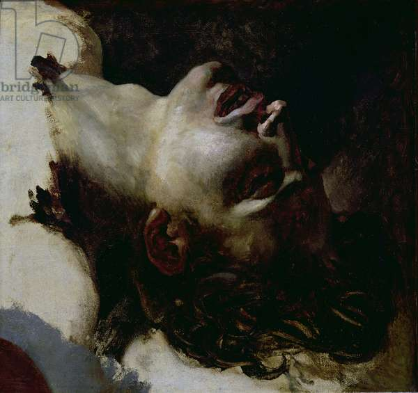 Head of a Dead Young Man, before 1819 (oil on canvas)