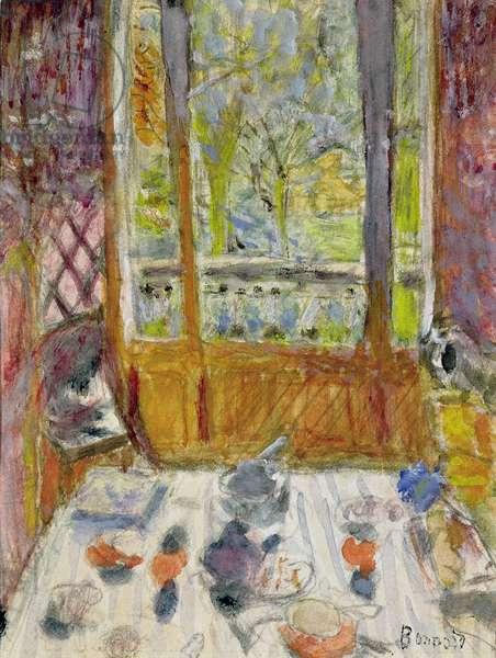The Breakfast Room, c.1930 (gouache on paper)