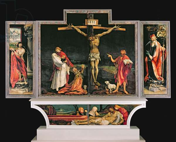The Isenheim Altarpiece, c.1512-15 (oil on panel) (for details see 81214, 622, 71772 & 414004)
