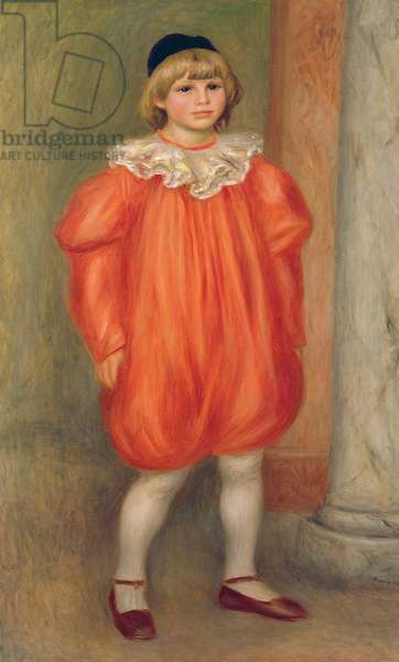 Claude Renoir in a clown costume, 1909 (oil on canvas) (also see 287546)