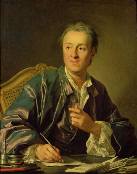 Portrait of Denis Diderot (1713-84) 1767 (oil on canvas)