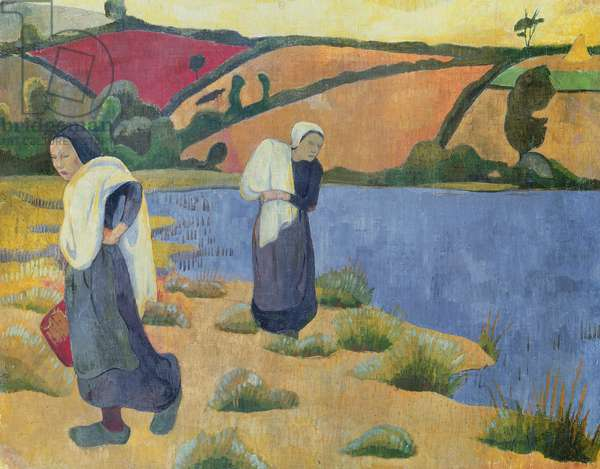 Washerwomen at the Laita River, near Pouldu, 1892 (oil on canvas)
