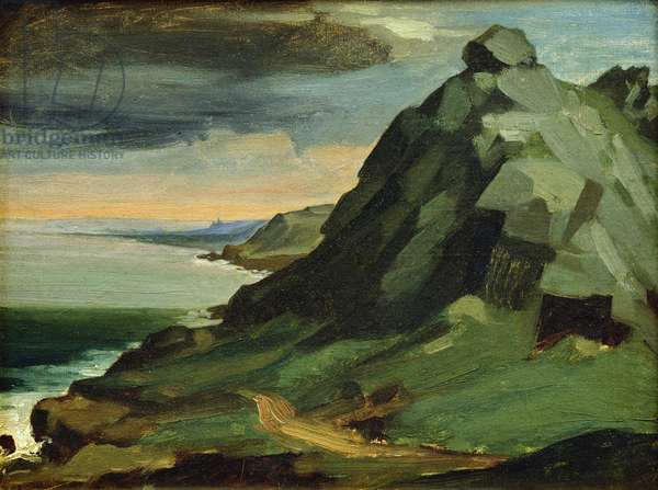 The Rock of Catel, or The Cliffs of The Hague, 1844 (oil on canvas)