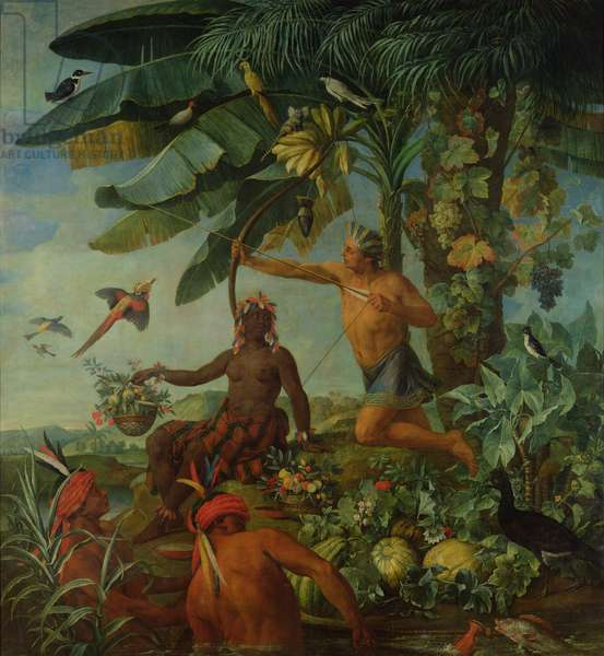 The Indian Hunter and Fisherman, 1741 (oil on canvas)