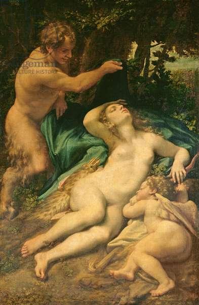 Venus, Satyr and Cupid, 1528 (oil on canvas)