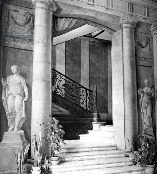 The Vestibule of the Folie St.James,  Neuilly-sur-Seine  (b/w photo)