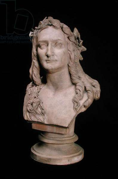 Bust of Delphine Gay (1804-55) (stone)