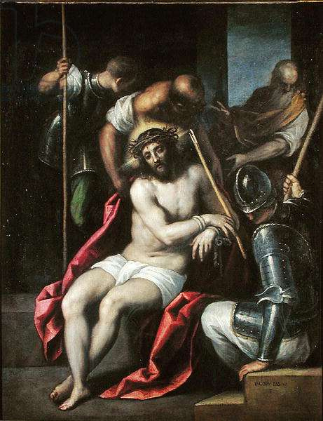 The Crowning with Thorns, before 1624 (oil on canvas)