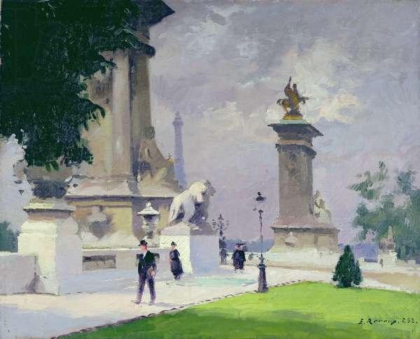 Pont Alexandre III, Paris (oil on canvas)
