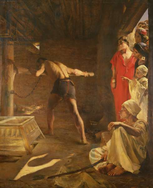 Samson Turning the Philistine's Millstone, 1887 (oil on canvas)