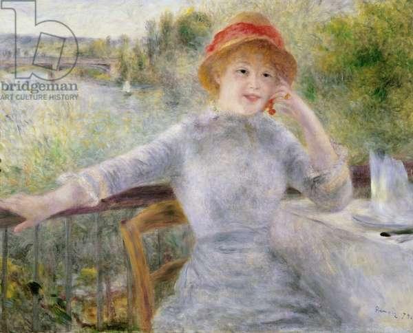 Alphonsine Fournaise (1845-1937) at The Grenouillere, 1879 (oil on canvas)