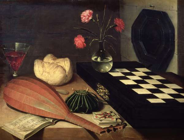 Still Life with Chess-board, 1630 (oil on panel)
