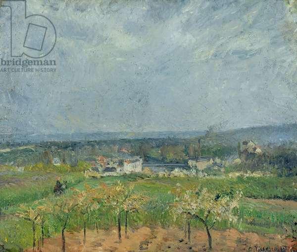 Landscape in Pontoise, 1877 (oil on canvas)