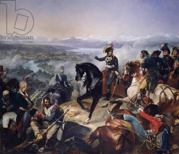 The Battle of Zurich, 25th September 1799, 1837 (oil on canvas)