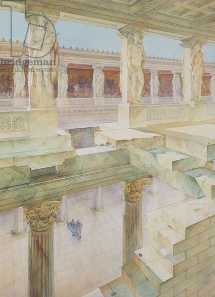 Study of a Roman Temple (w/c on paper)
