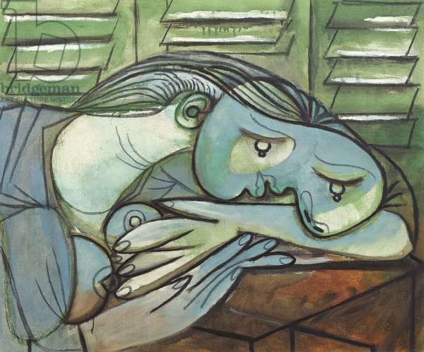Sleeping Woman with Shutters, 25th April 1936 (oil on canvas)