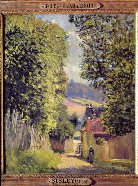 A Road in Louveciennes, 1883 (oil on canvas)