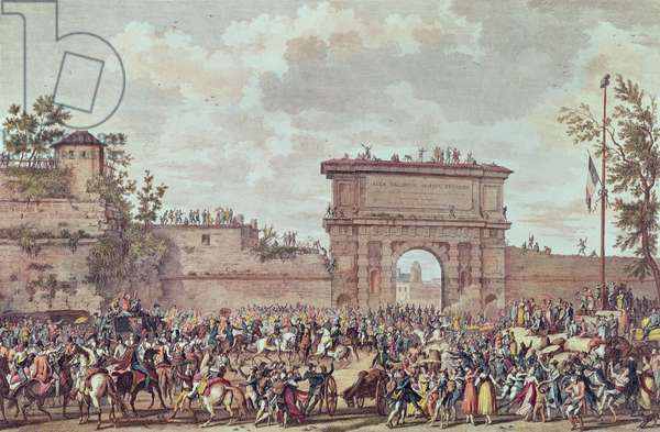 The Entry of the French into Milan, 25 Floreal An IV (14th May 1796) (aquatint)