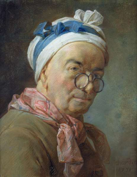 Self Portrait with Spectacles, 1771 (pastel on paper)