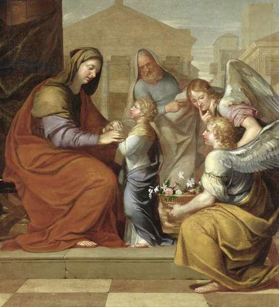 The Education of the Virgin, 1658 (oil on canvas)