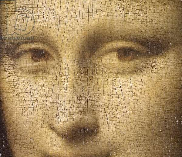 Mona Lisa, c.1503-6 (oil on panel) (detail of 3179)