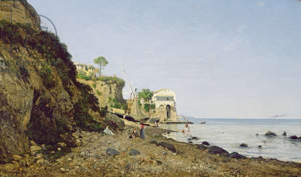 Seascape at Sorrento, 1859 (oil on canvas)