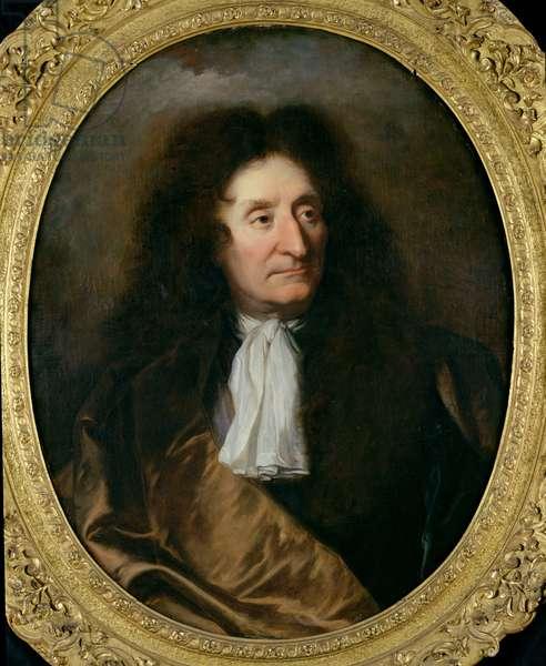 Portrait of Jean de La Fontaine (1621-95) (oil on canvas)