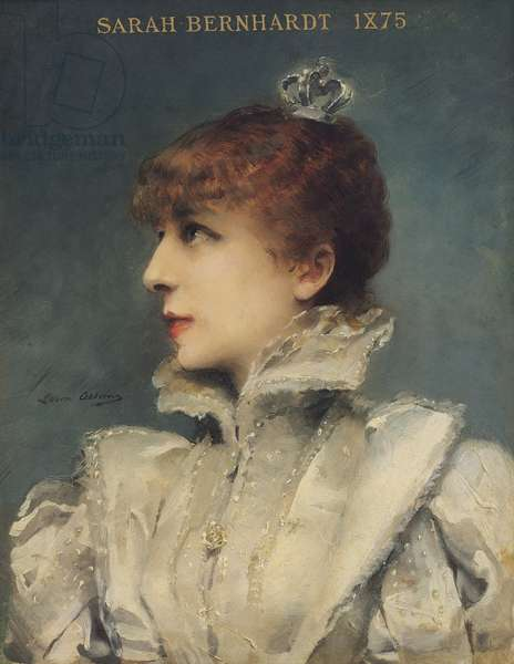 Sarah Bernhardt (1844-1923) 1875 (oil on canvas)