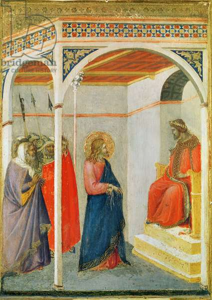 Christ before Pontius Pilate, c.1335 (tempera and gold leaf on wood)