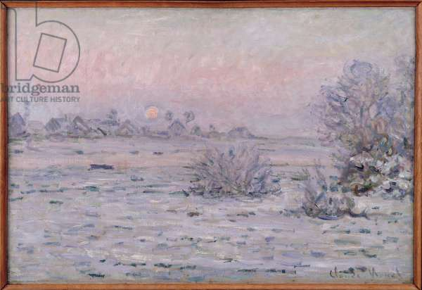 Snowy Landscape at Twilight, 1879-80 (oil on canvas)