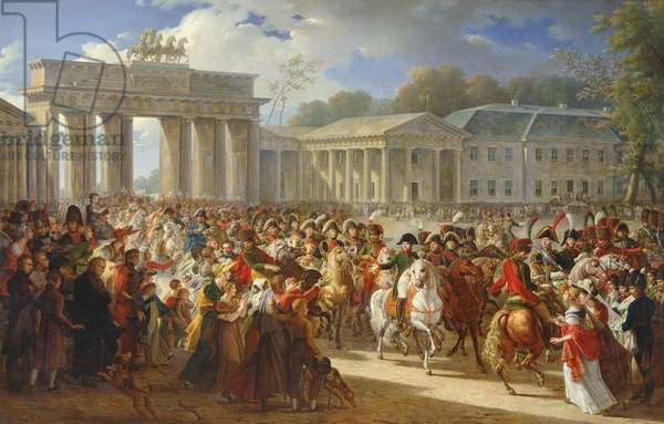 Entry of Napoleon I (1769-1821) into Berlin, 27th October 1806, 1810 (oil on canvas)