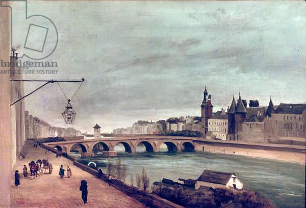 View of the Pont au Change from Quai de Gesvres, Summer 1830 (oil on canvas)