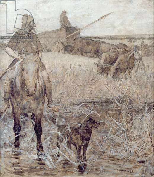 Agriculture, 1897 (oil on canvas)