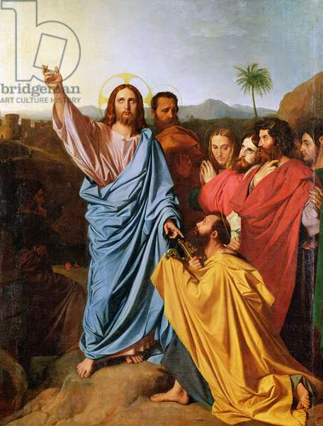 Jesus Returning the Keys to St. Peter, 1820 (oil on canvas)