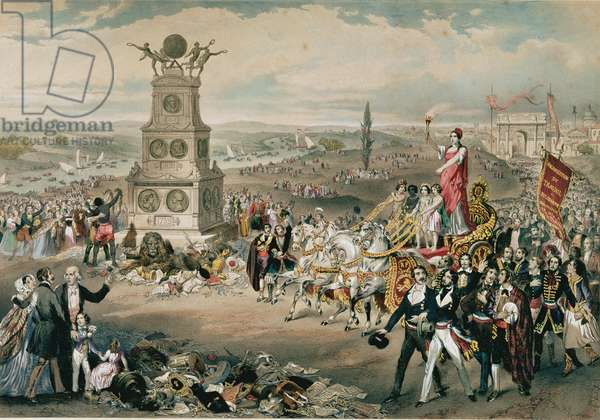 Anniversary of the Universal Democratic and Social Republic, 1848 (colour litho)