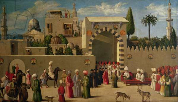 The Venetian Ambassador's Interview in an Oriental City or, The Reception of Domenico Trevisani in Cairo in 1512 (oil on panel)