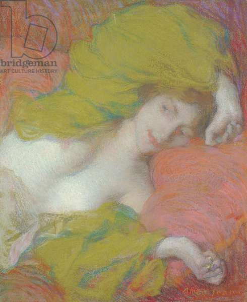 Idleness, c.1895 (pastel on paper)