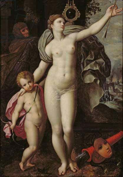 Venus and Cupid (oil on panel)